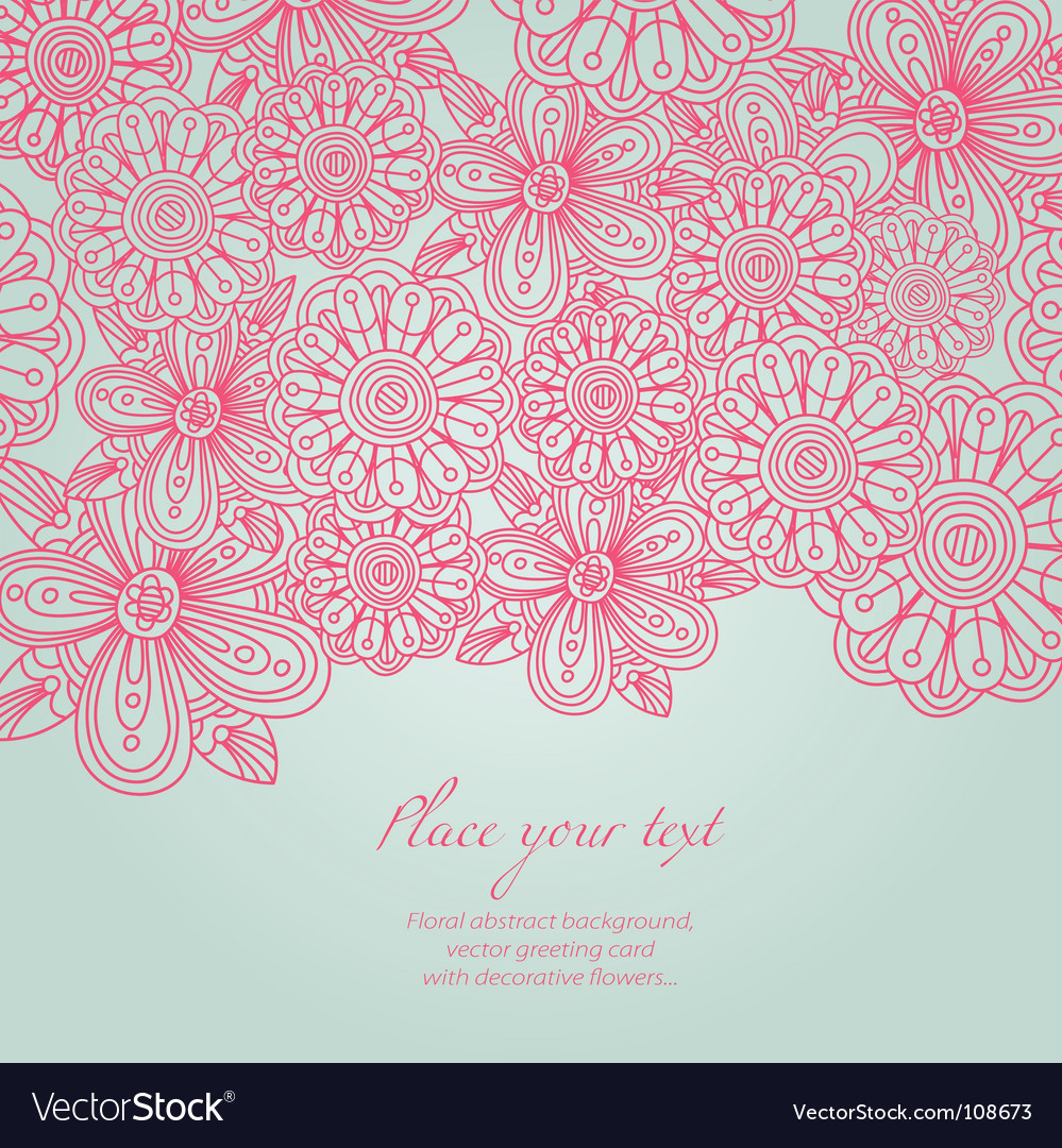 Floral background greeting card