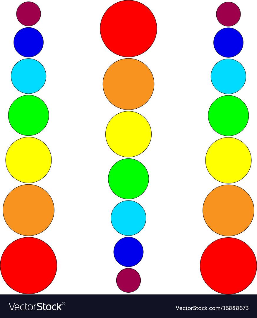 Lines rainbow circles