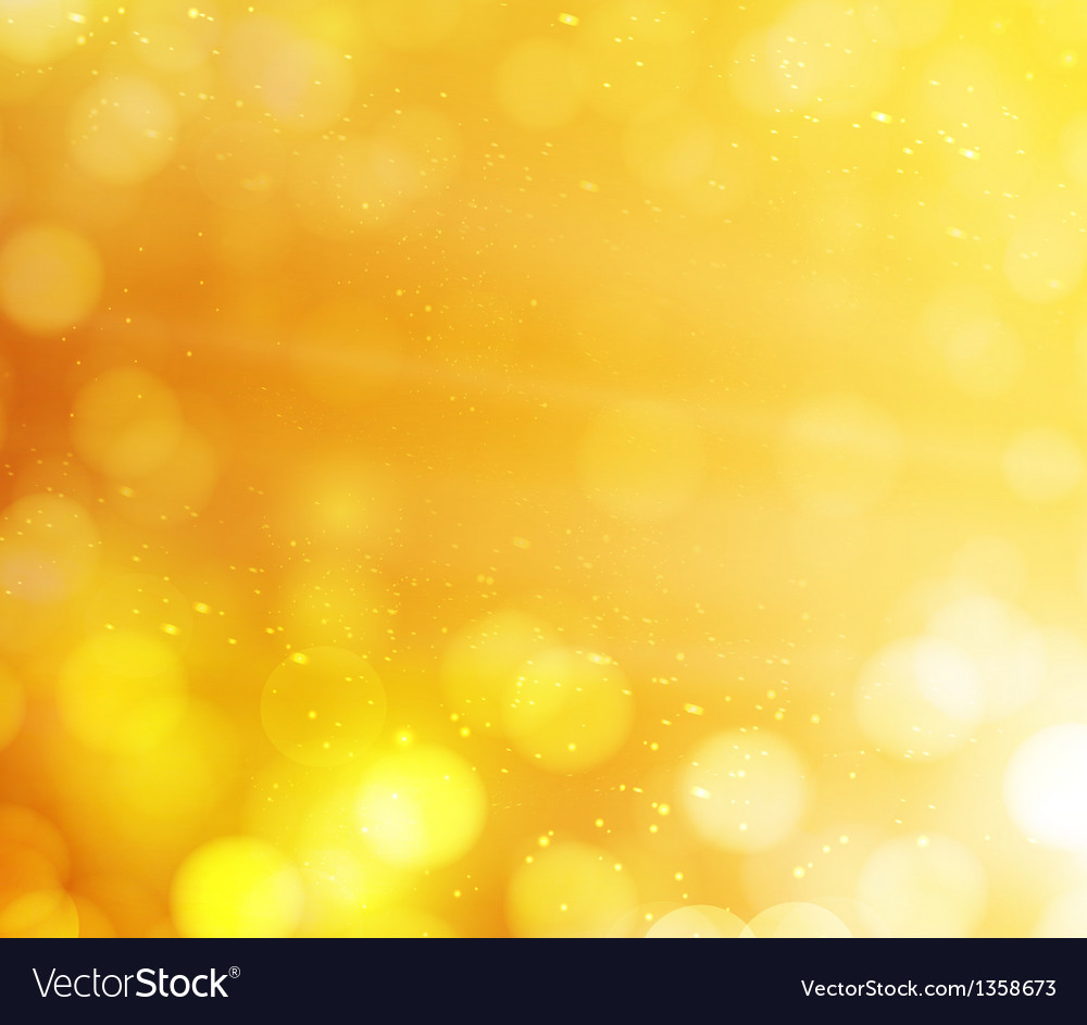 Orange bokeh lights abstract background