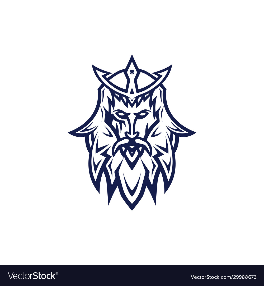 Poseidon esport logo template vector