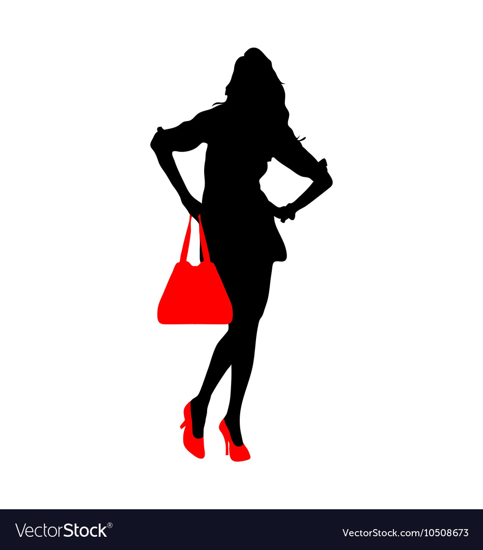 Silhouette of a lady vector image