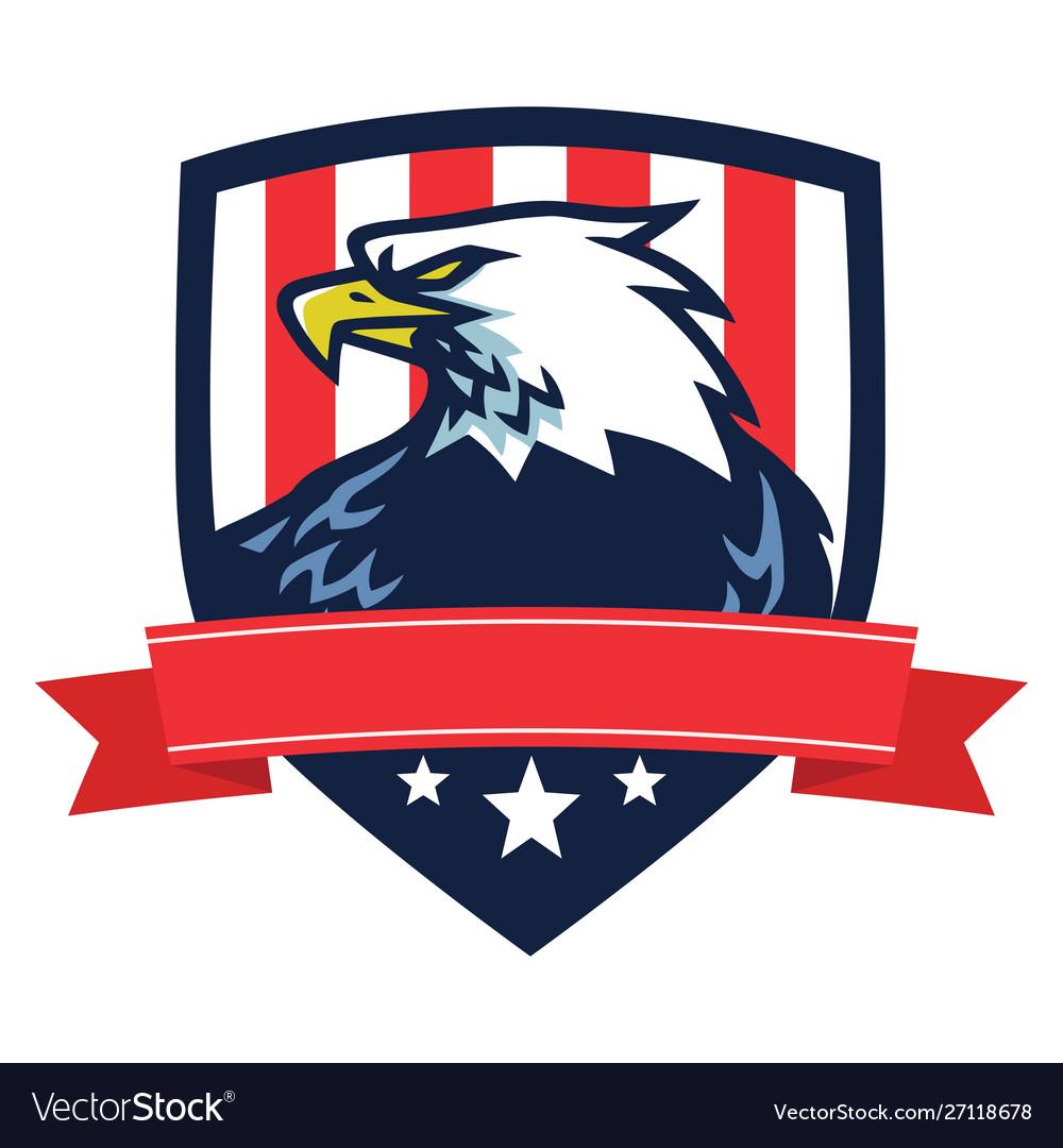 American eagle logo mascot flag shield