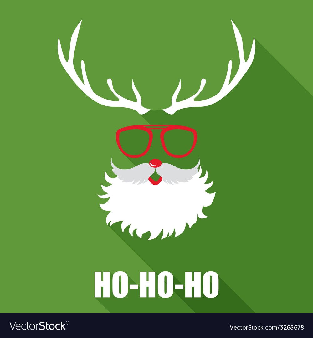Christmas Retro Santa Card vector image