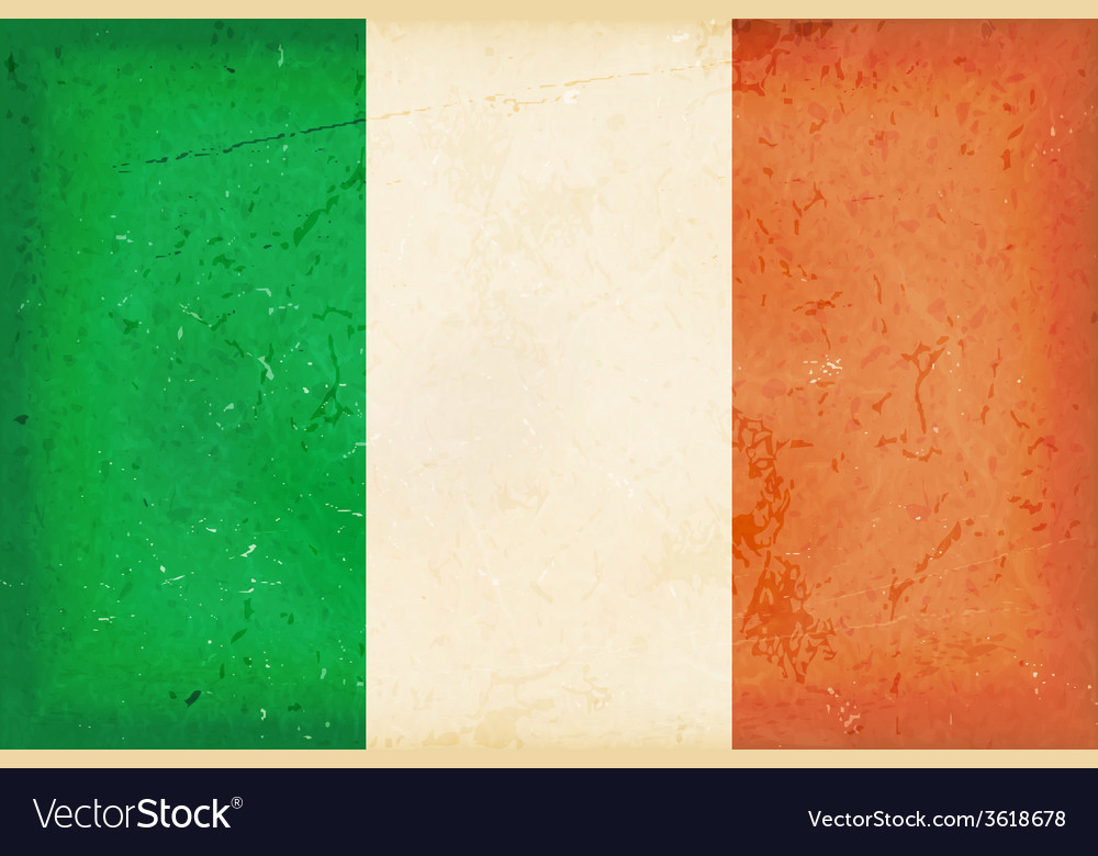 Flag of Ireland with grunge elements