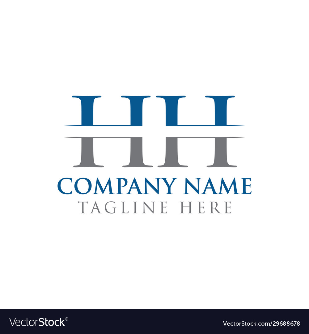 Hh letter type logo design template abstract