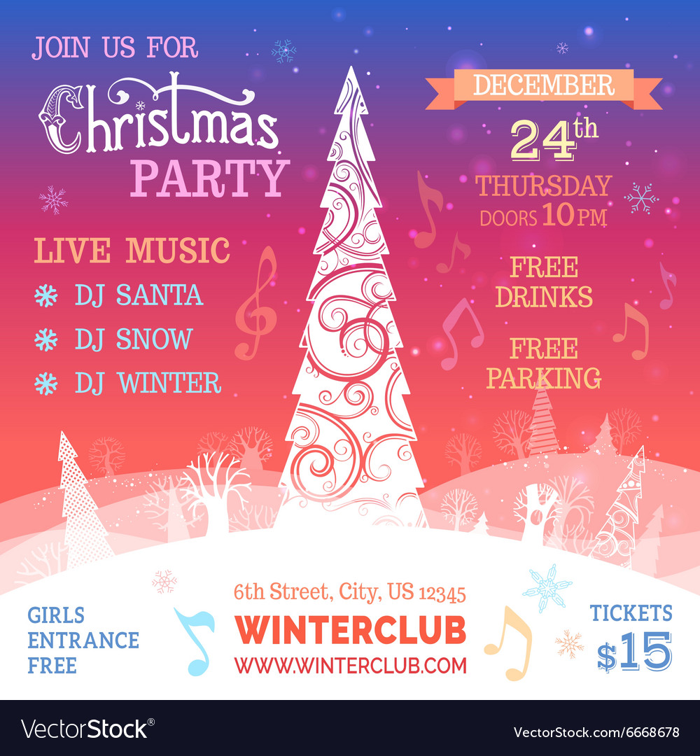 Free Christmas Music.Merry Christmas Music Party Template