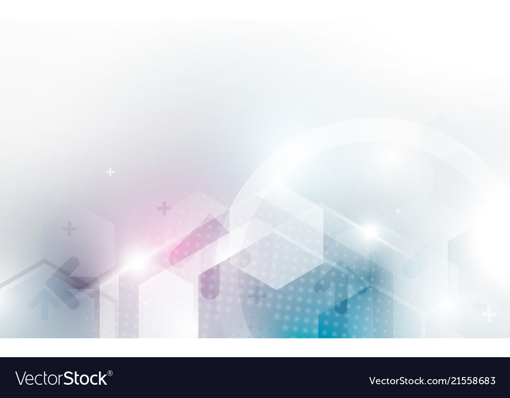 Abstract hexagon technology concept background