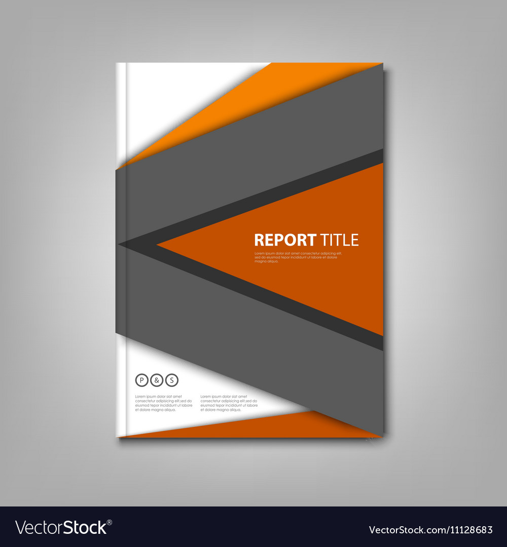 Brochures book or flyer with abstract design