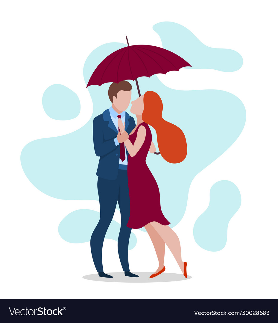 Cartoon Color Characters People Happy Couple And Vector Image