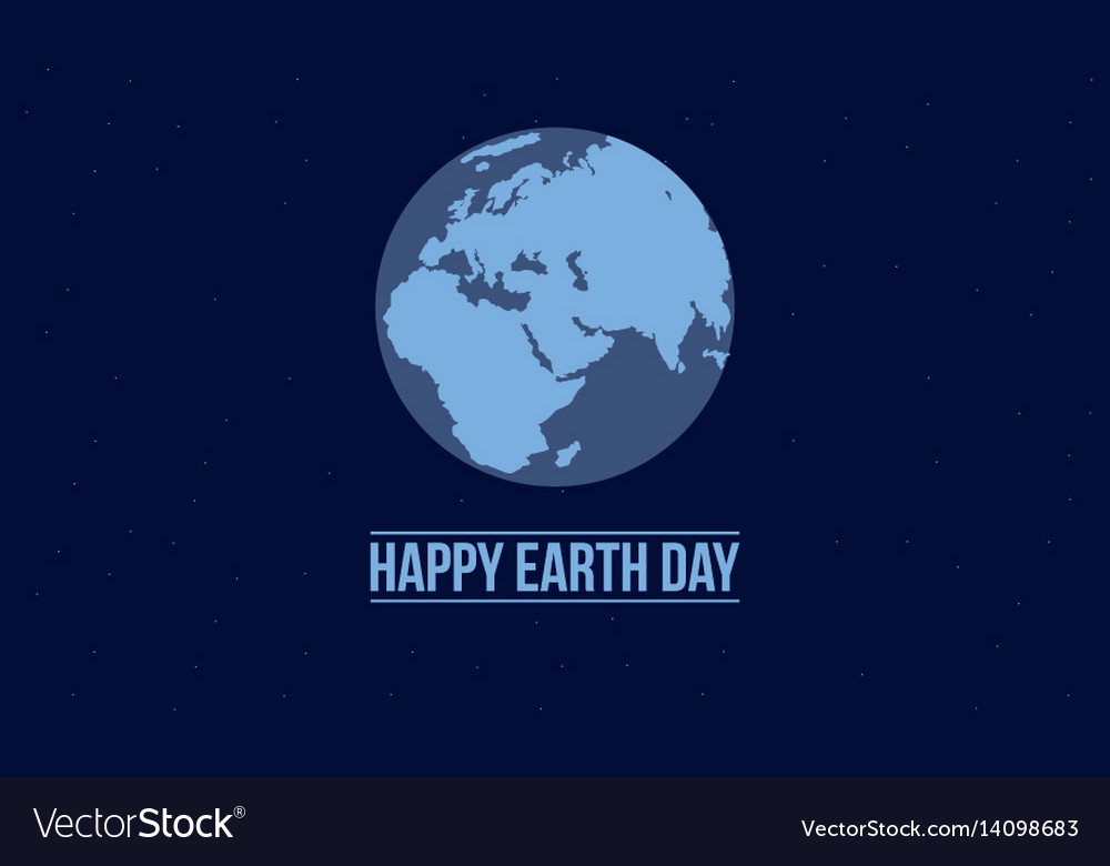 Happy earth day with blue background