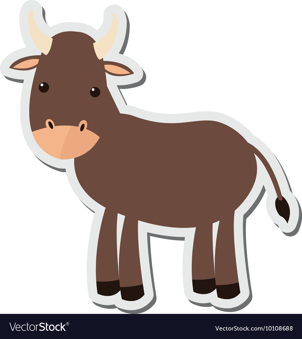 Bull cartoon icon