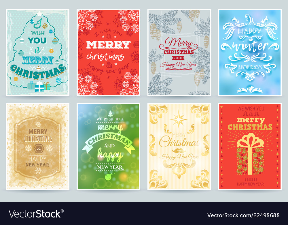 Christmas card merry winter holiday