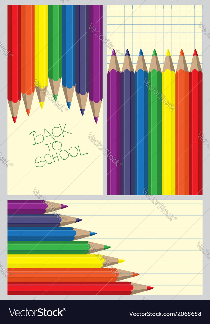 d9f54ff14a55 Colored crayons frames Royalty Free Vector Image