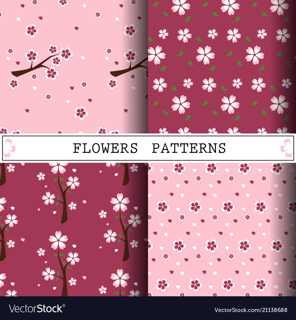 Flower pattern cherryblossom pattern design web
