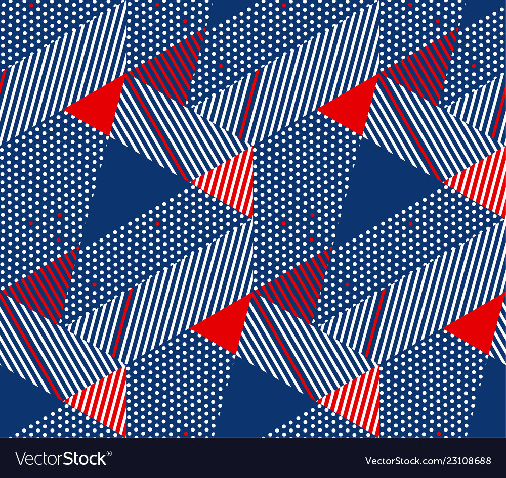 Geometric color seamless pattern