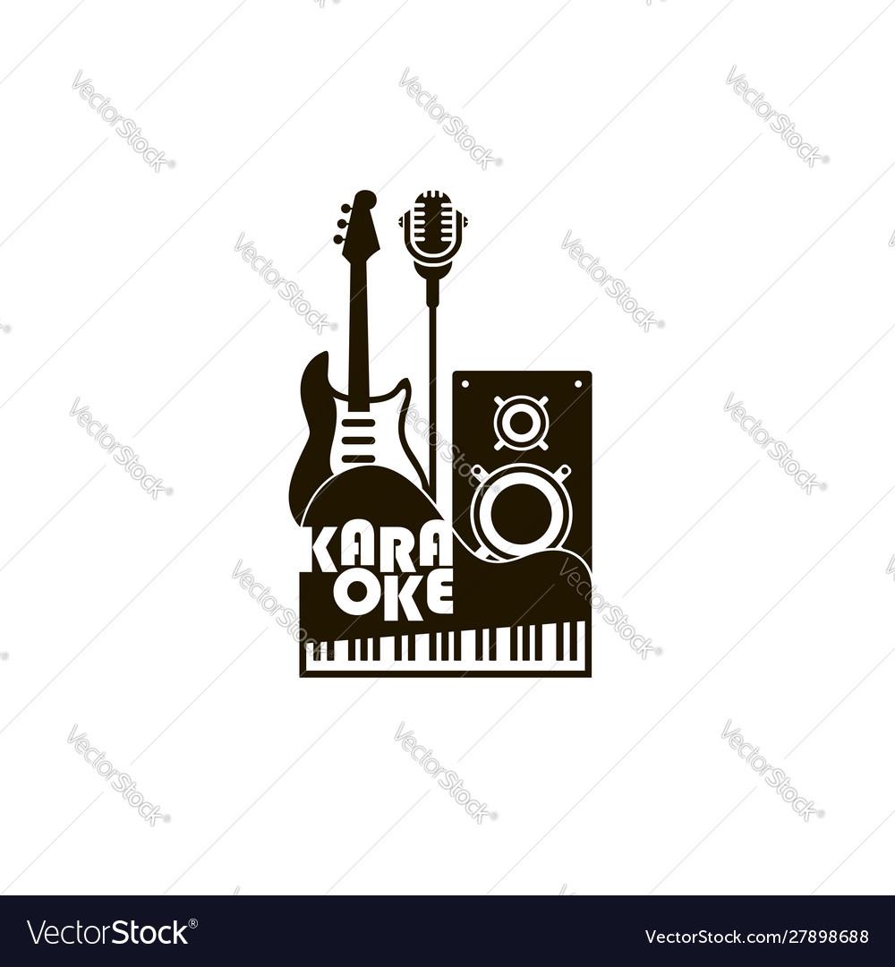 Karaoke party emblem