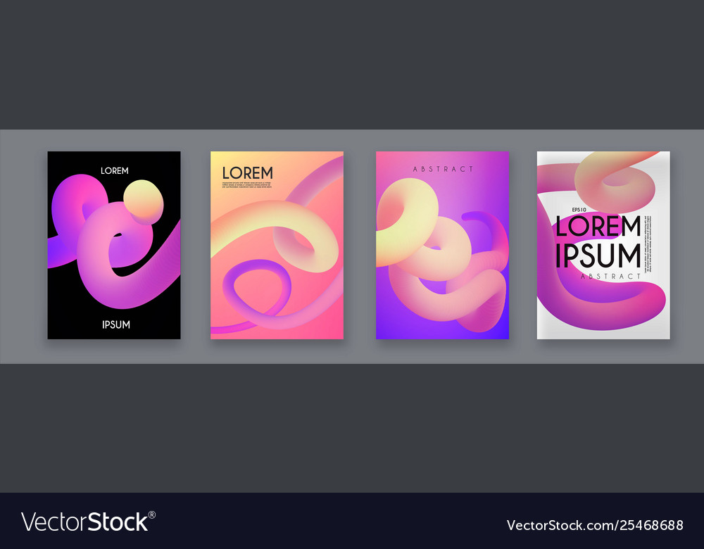 Liquid color collection fluid gradient design