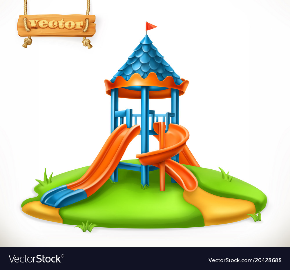 Playground slide play area for children 3d icon
