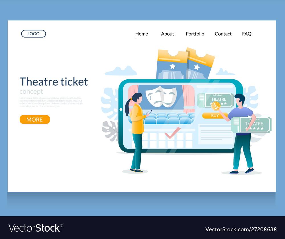 Theatre ticket website landing page design