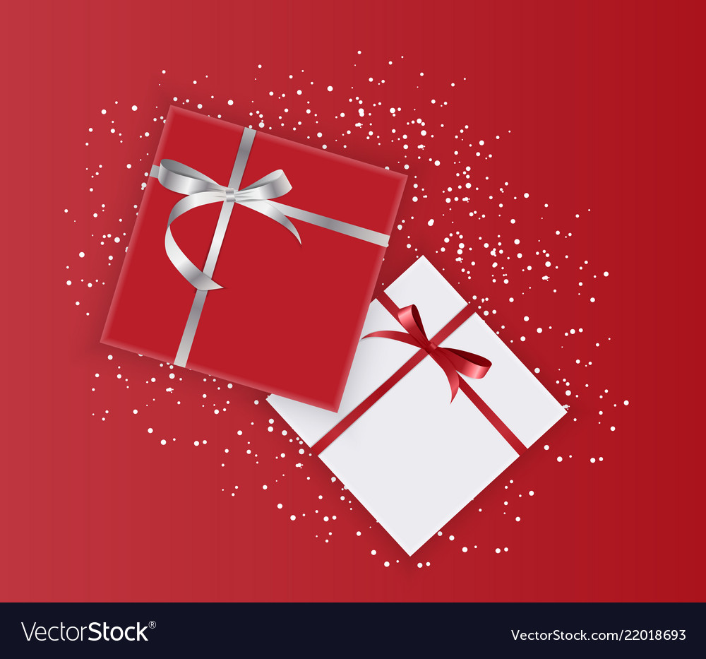 Abstract gift box holiday greeting background
