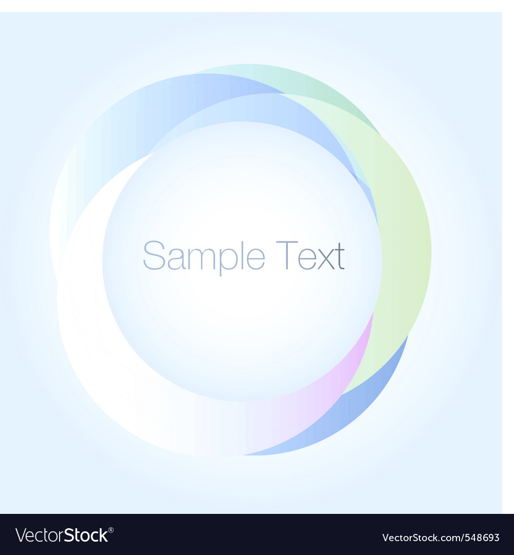 Abstract round background vector image