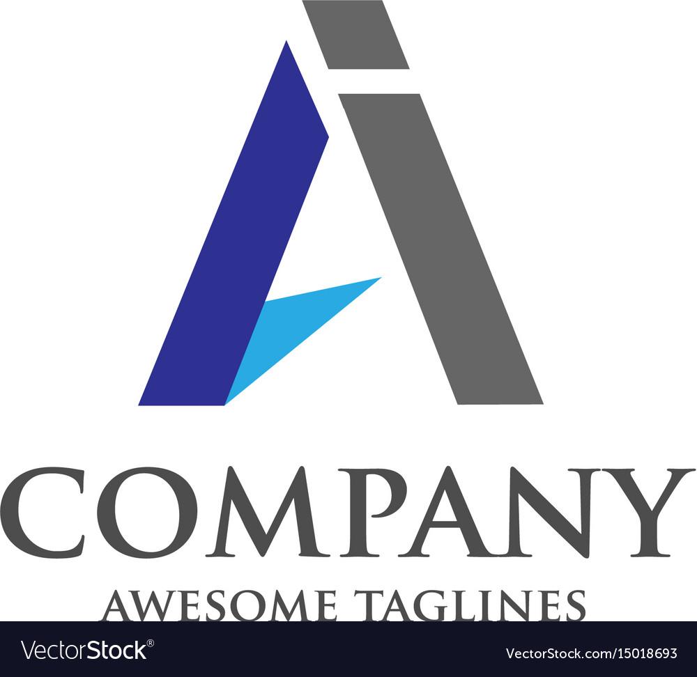 Ai Letter Logo Design Vector Image
