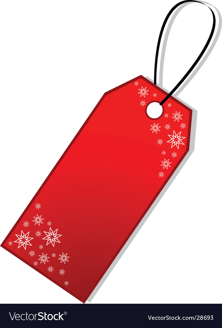 christmas gift tag royalty free vector image vectorstock