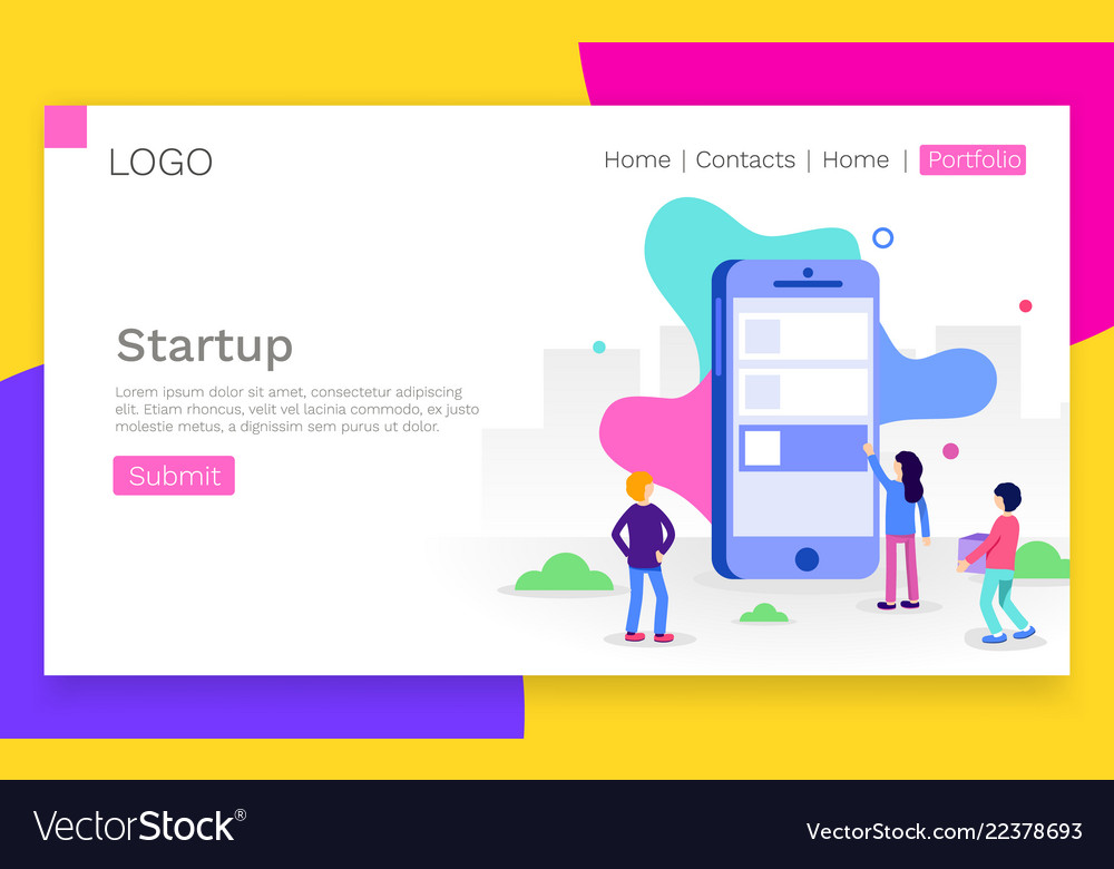 Concept app development for website