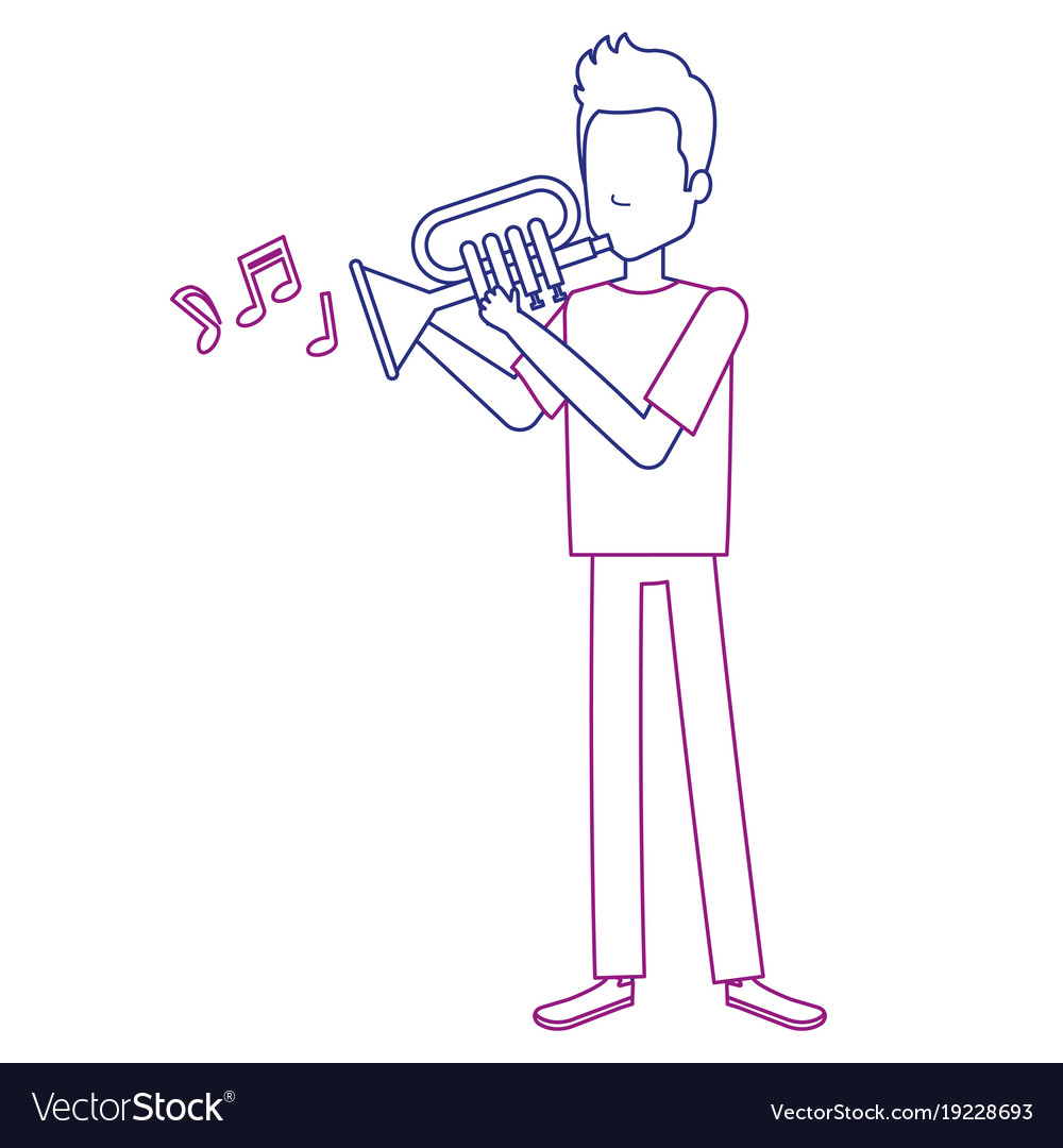 Man playing trumpet avatar