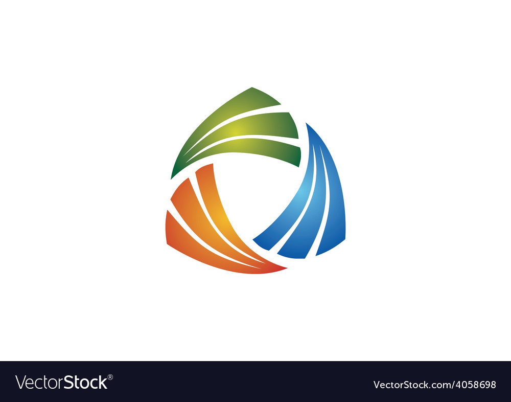 Circular triangle geometry business logo