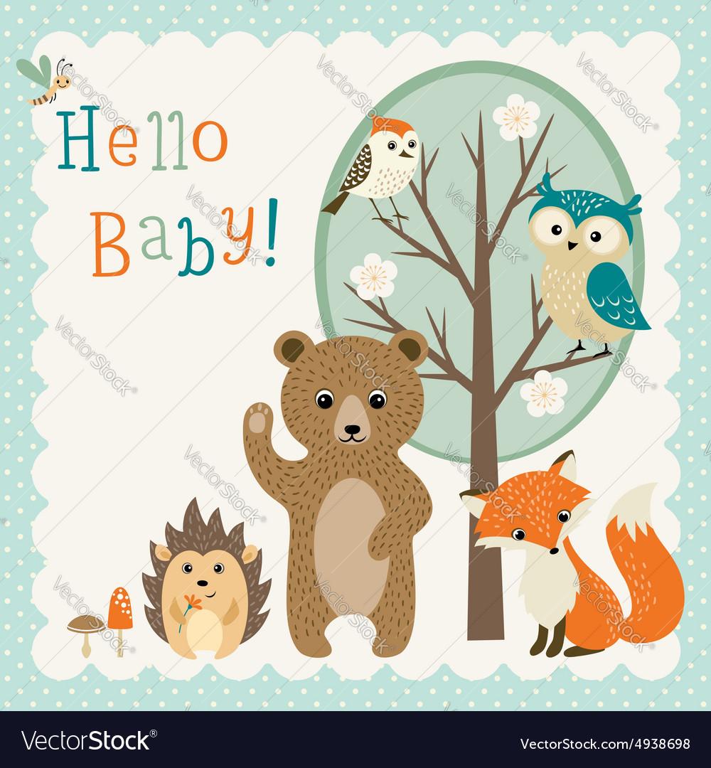 Cute woodland friends baby shower