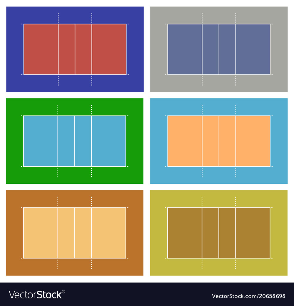 Different volleyball court vector image