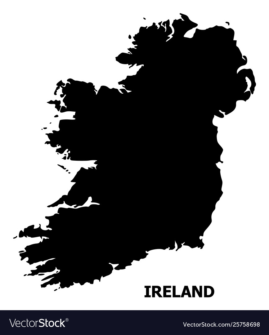 Map Of Ireland Islands.Flat Map Ireland Island With Caption