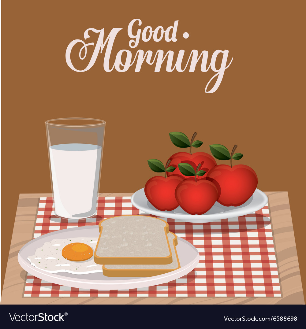 Good Morning Breakfast Design Royalty Free Vector Image