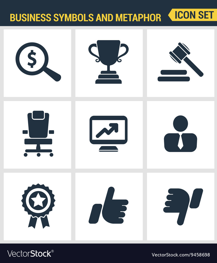 Icons set premium quality of various business