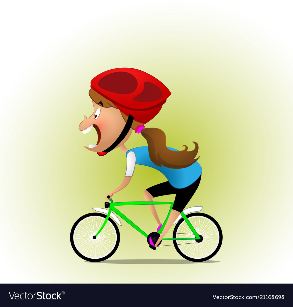 On the bycicle