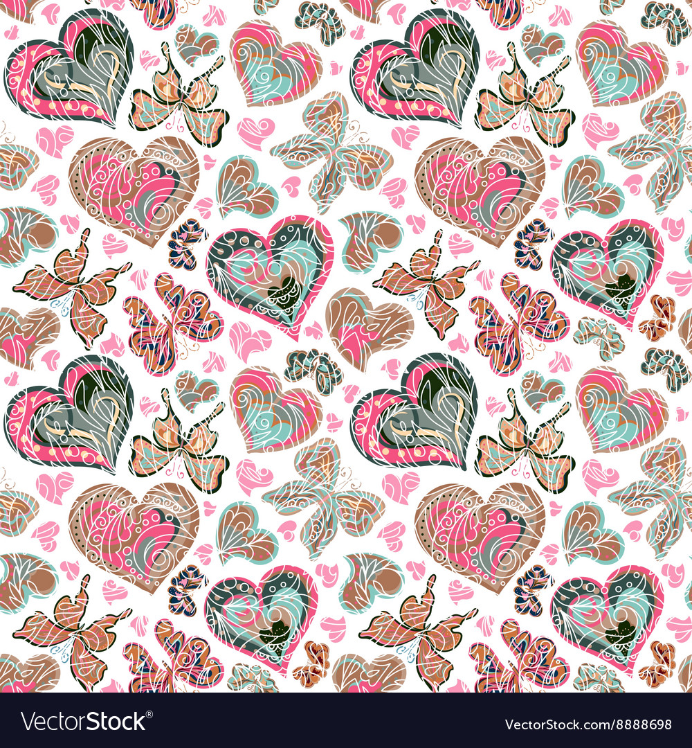 Seamless pattern with colorful vintage pastel pink