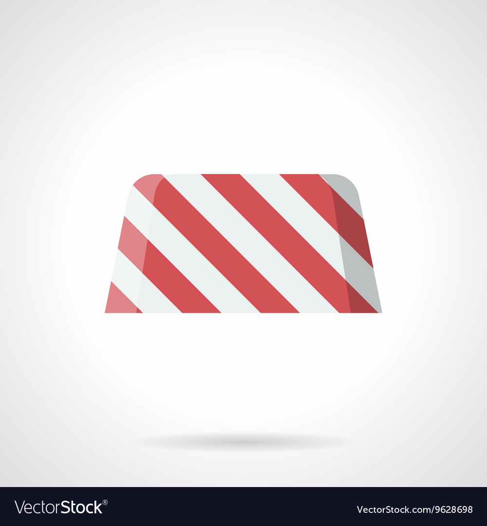 Striped road block flat color icon