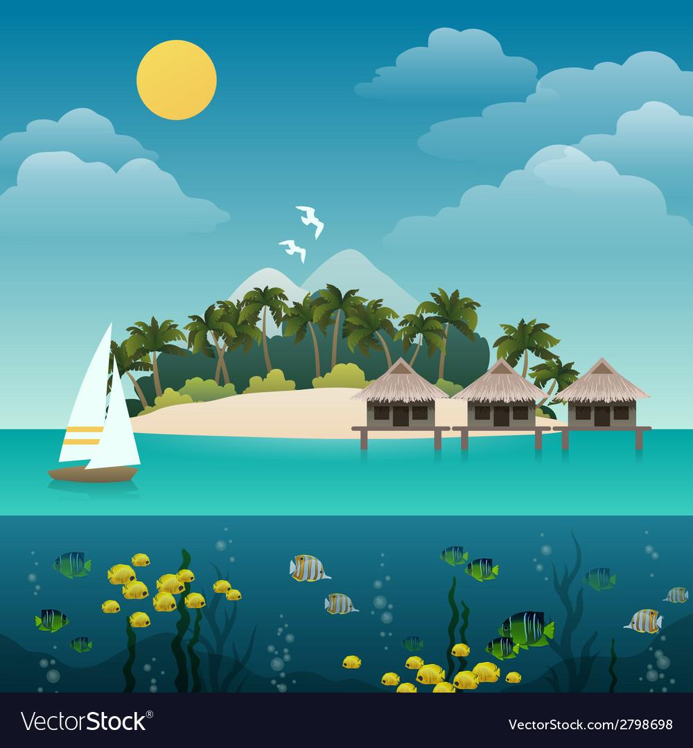 Tropical island background