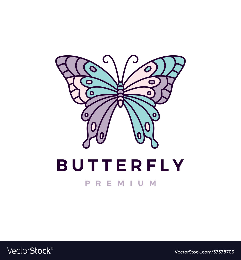 Butterfly colorful logo icon