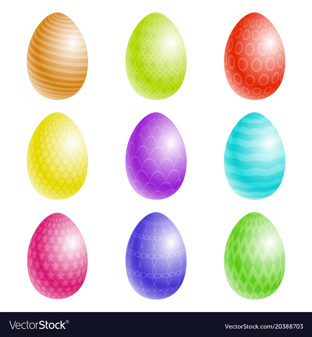 Easter eggs with a texture