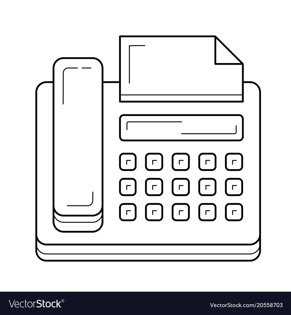 Fax machine line icon