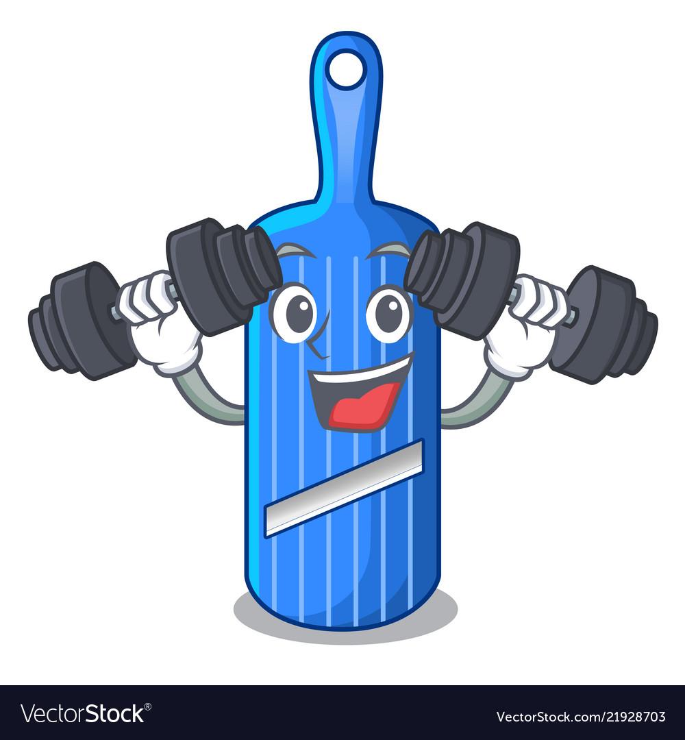Fitness Cut Food On Mandolin Slicer Cartoon Vector Image