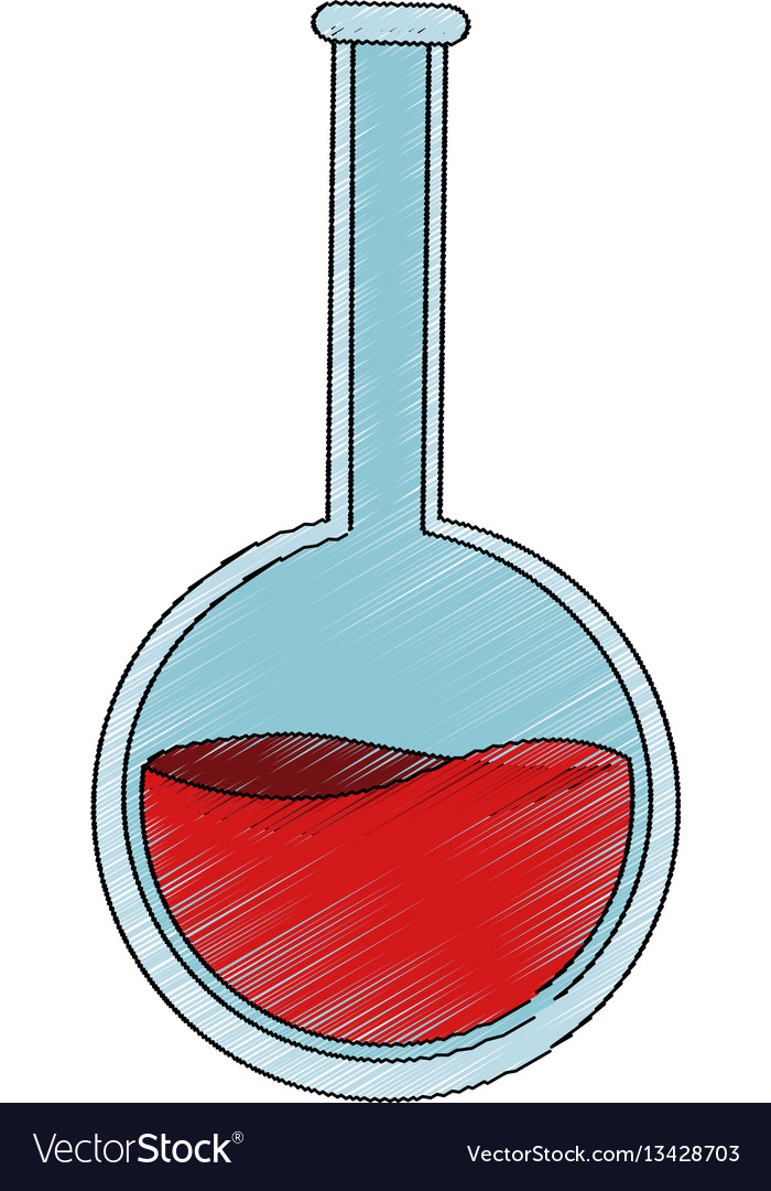 Flask bottle icon vector image