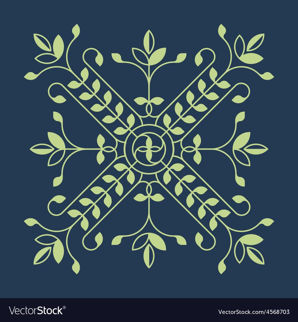Floral design element for pattern for Jewel