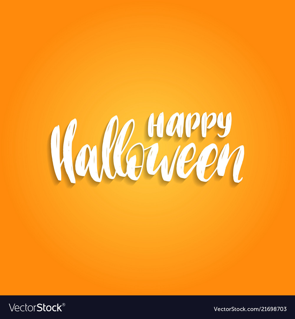 Happy halloween hand lettering vector