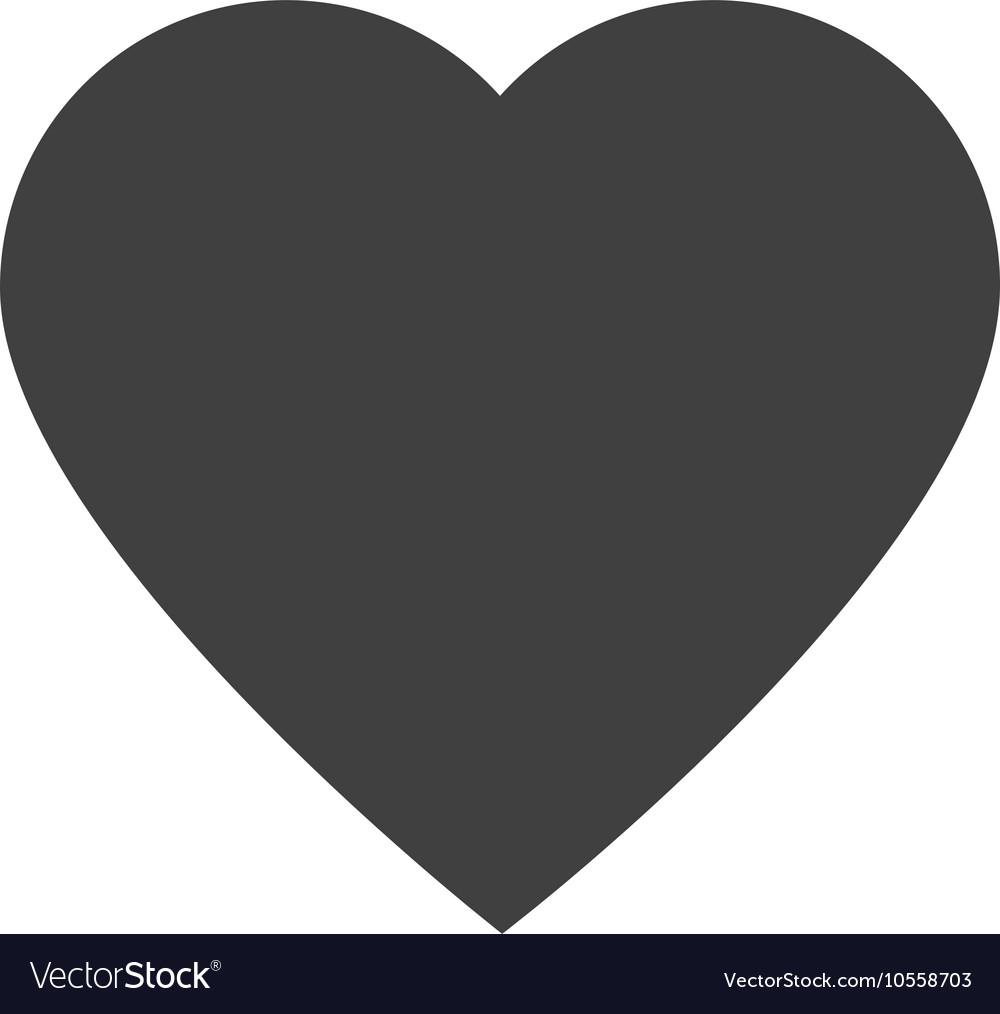 Heart shape love design vector image