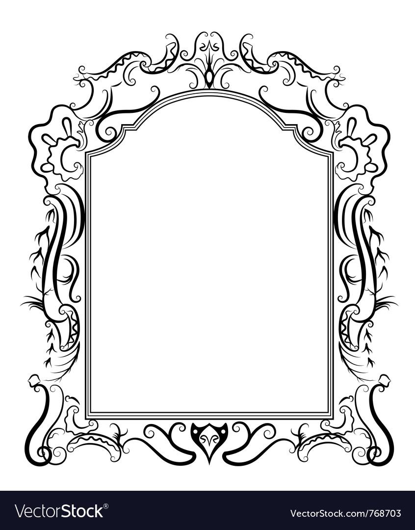 stylized baroque frame royalty free vector image rh vectorstock com free vector frame vintage free vector frame flower