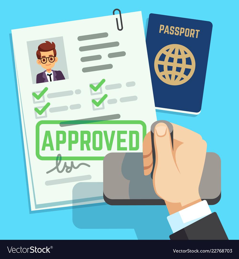 Visa concept passport or visa application travel