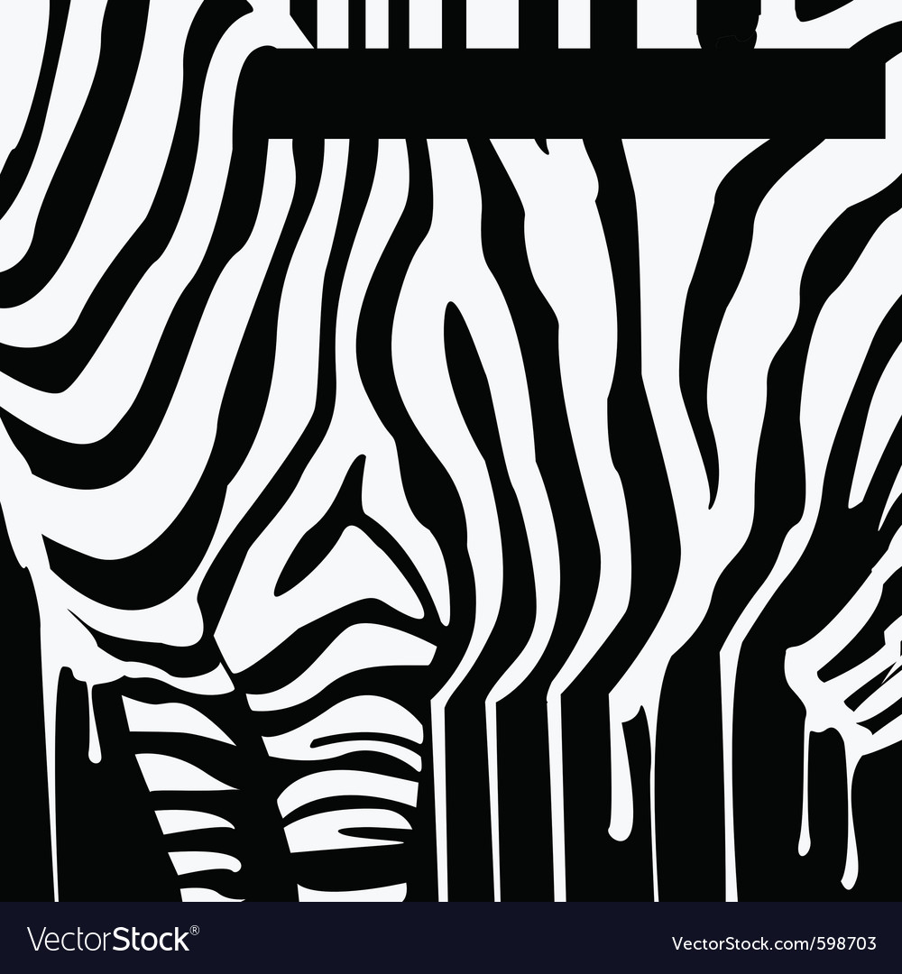 Zebra silhouette with smudges barcode